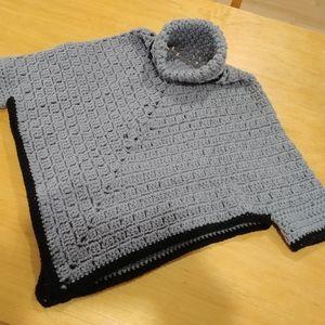Poncho gris pour enfants